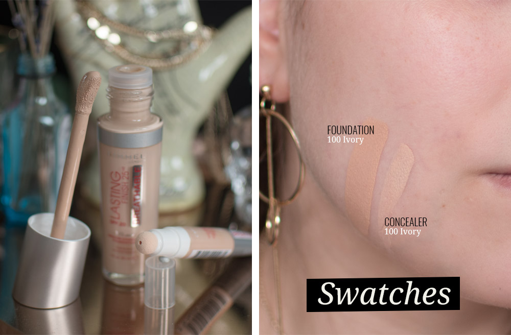 Review: Rimmel Lasting Finish Breathable foundation en concealer. Getest, voor en na, swatches.